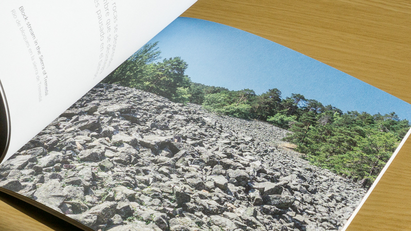 Photo of page from inside Earthwriting
